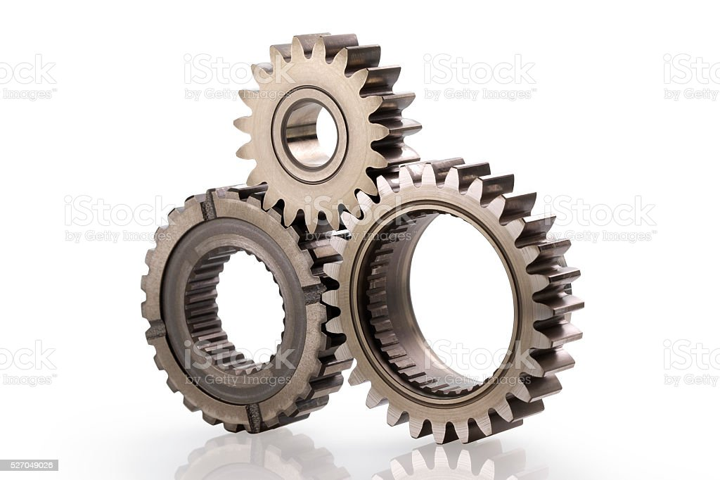 Machine Gears with Clipping Path stock photo