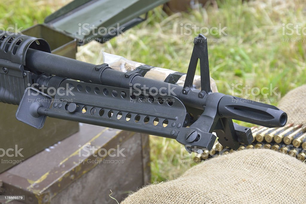Machine gun Barrel royalty-free stock photo