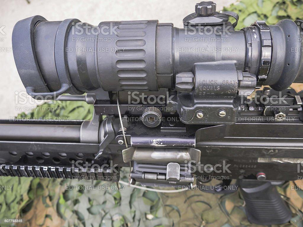 Machine gun Dutch military stock photo