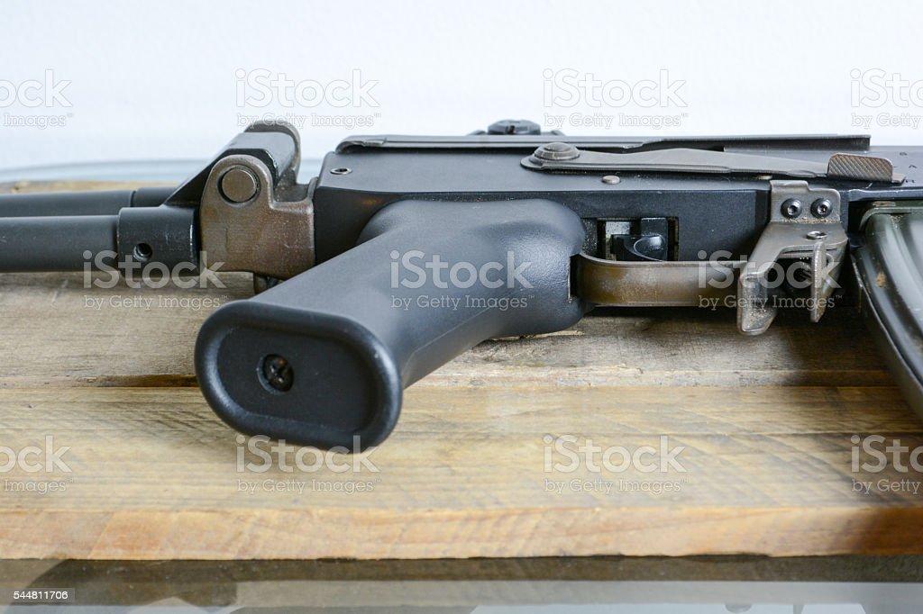 Machine Gun Handle from Israel stock photo