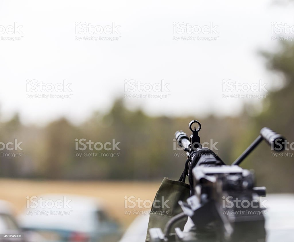 machine gun stock photo