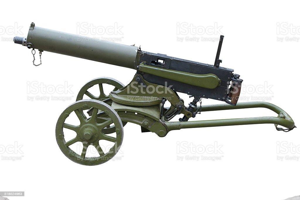 WWI machine gun stock photo