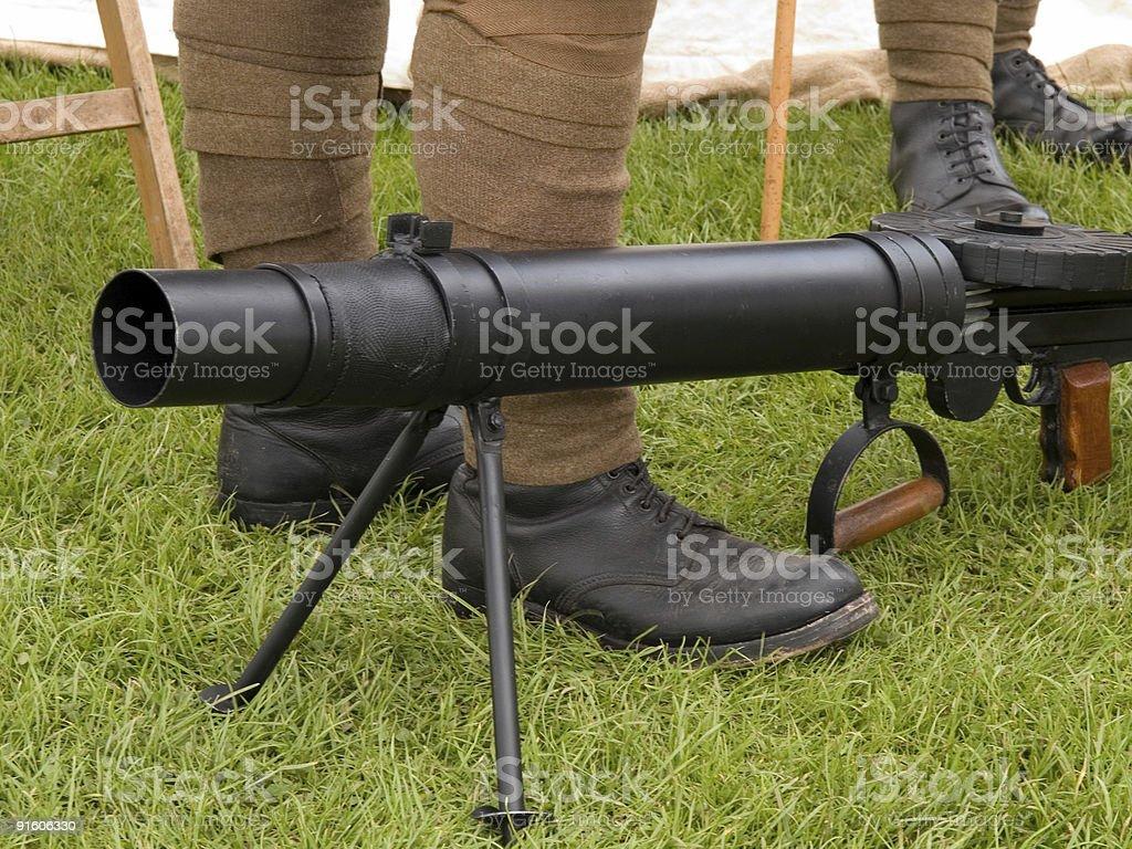 Machine gun stock photo