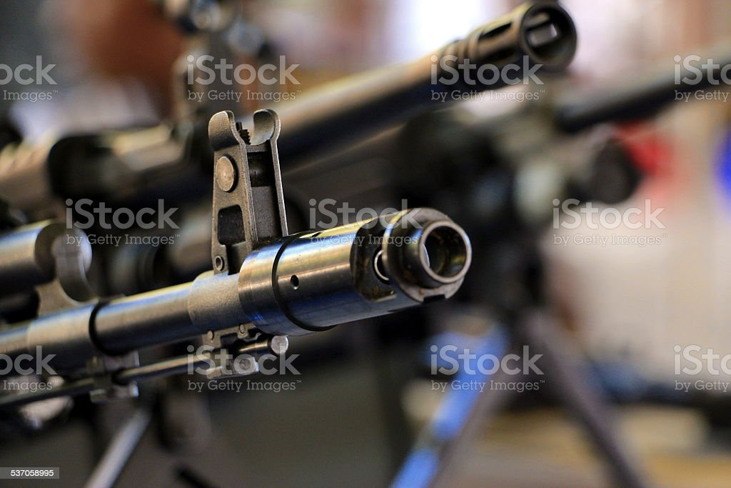 Machine gun sight stock photo