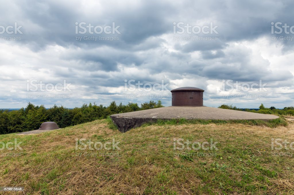 Machine gun turret at Fort Douaumont near Verdun at WW1 battlefield stock photo