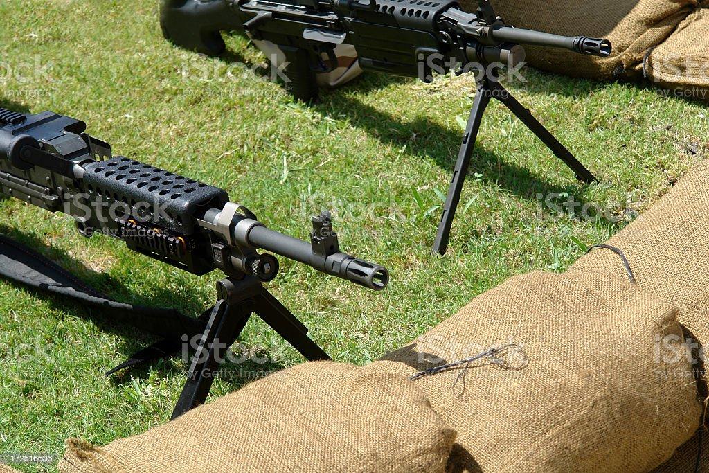 Machine Guns royalty-free stock photo