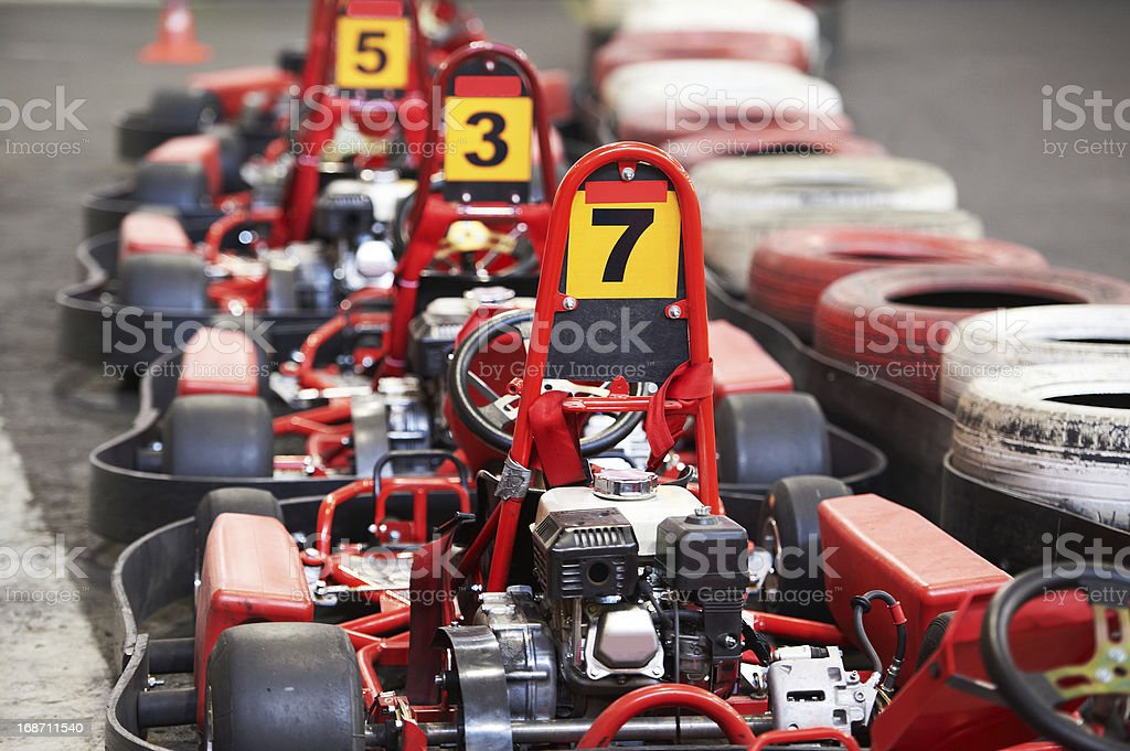 Machine karting stock photo