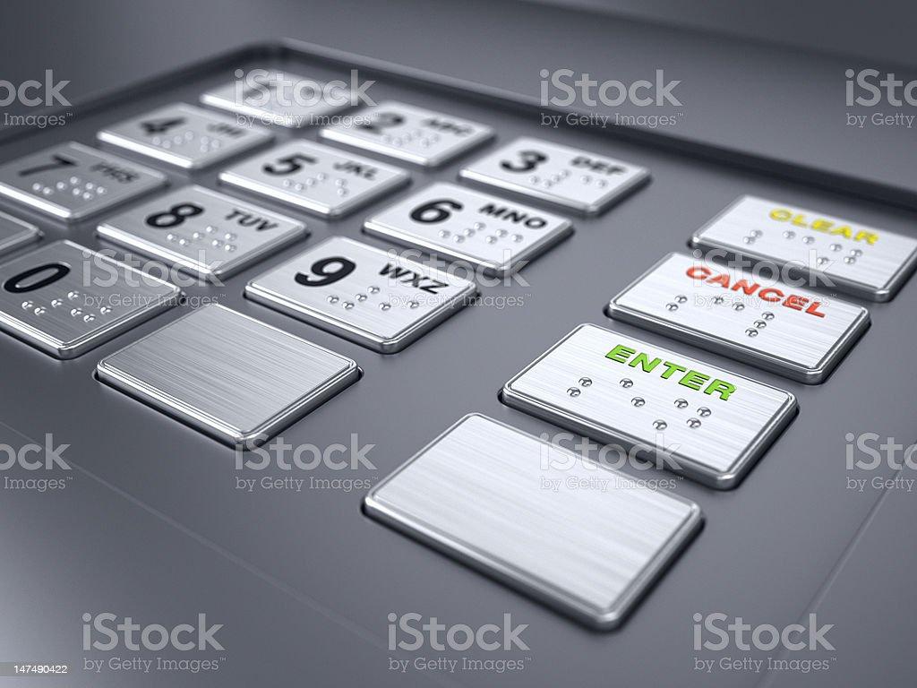 ATM machine keypad numbers royalty-free stock photo