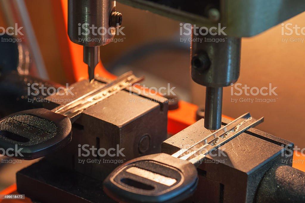 machine makes keys stock photo