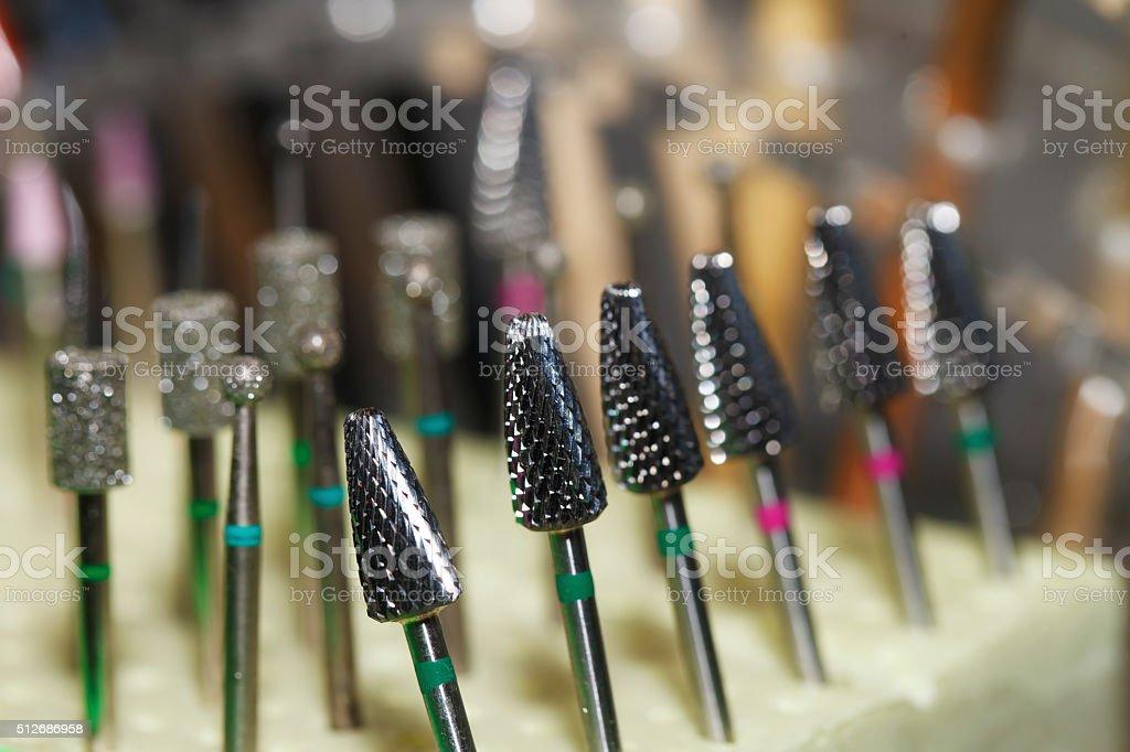 machine, manicure, tips, pedicure stock photo