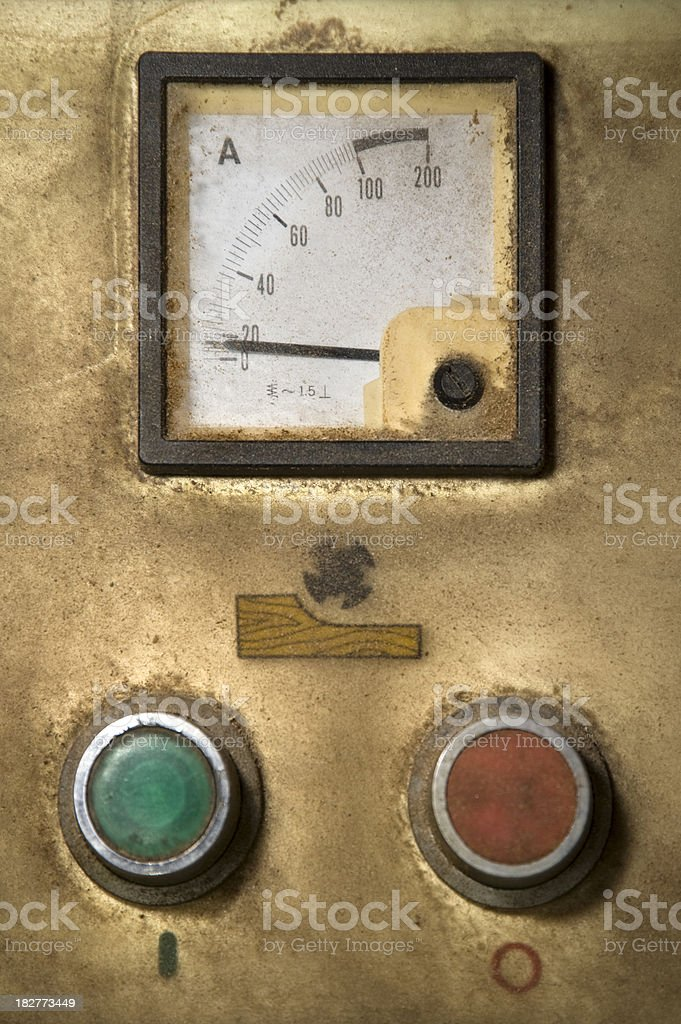 Machine meter stock photo