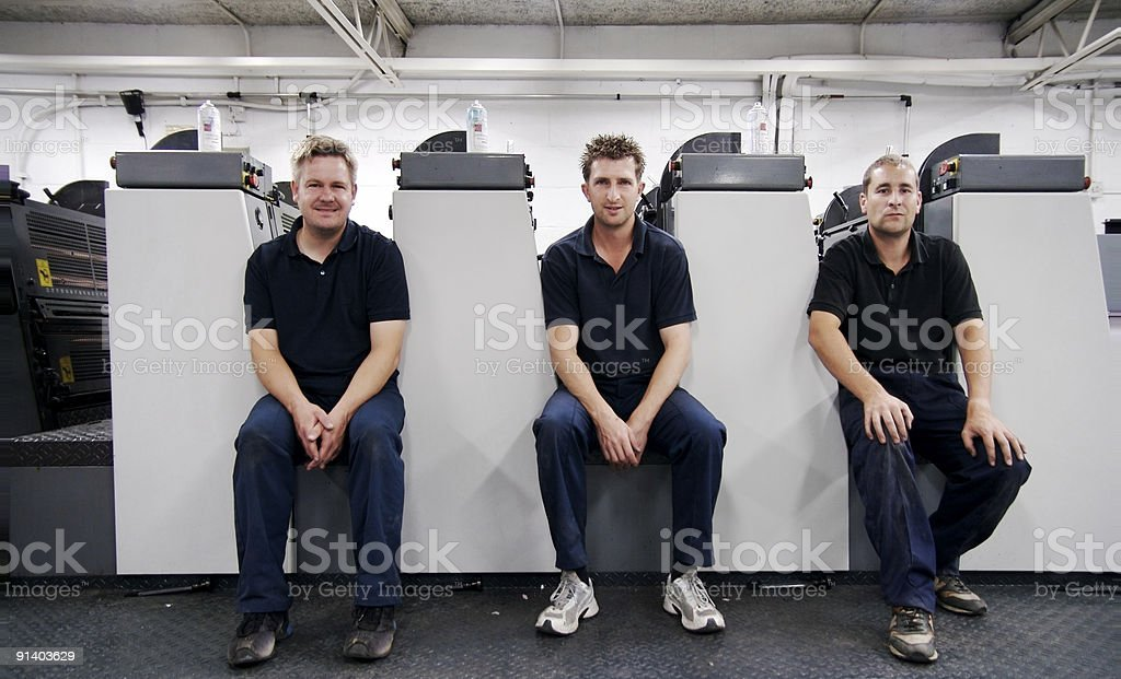 Machine Minders... royalty-free stock photo