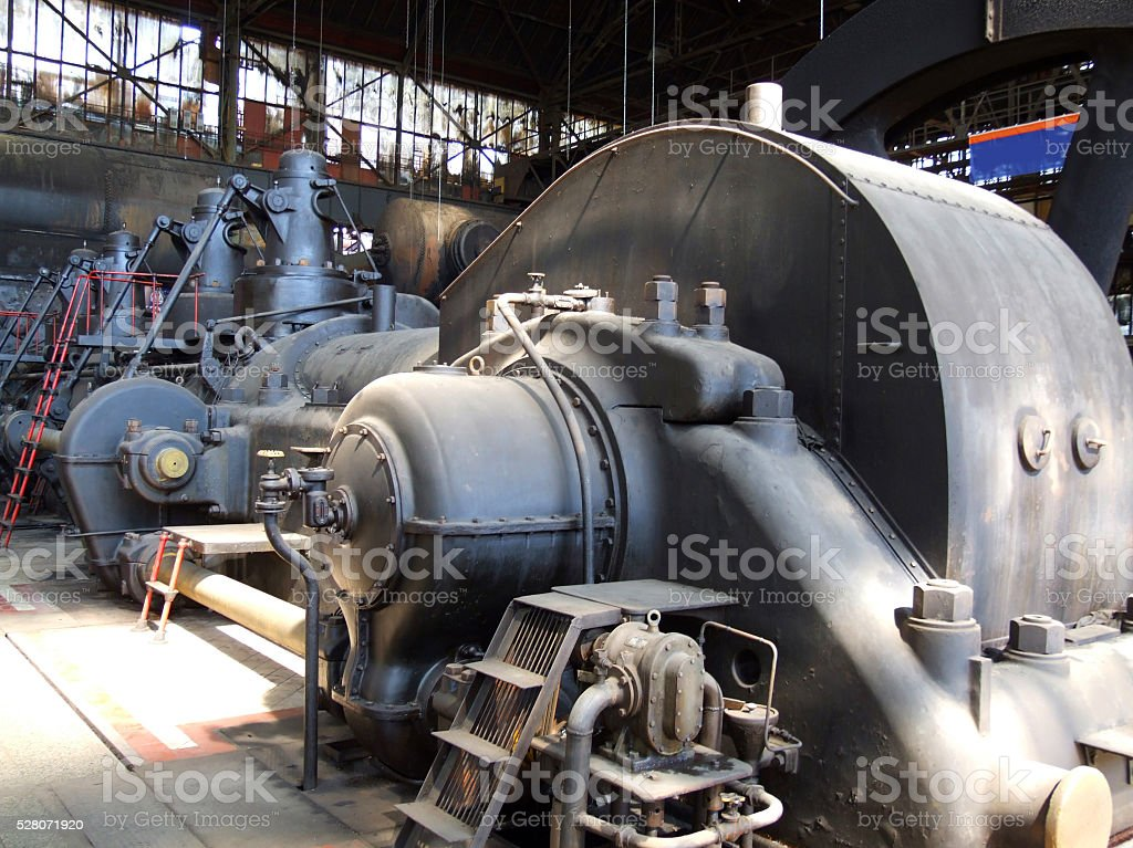 Machine, Motor - The Lower Vitkovice Area, Ostrava, Czech Republic stock photo