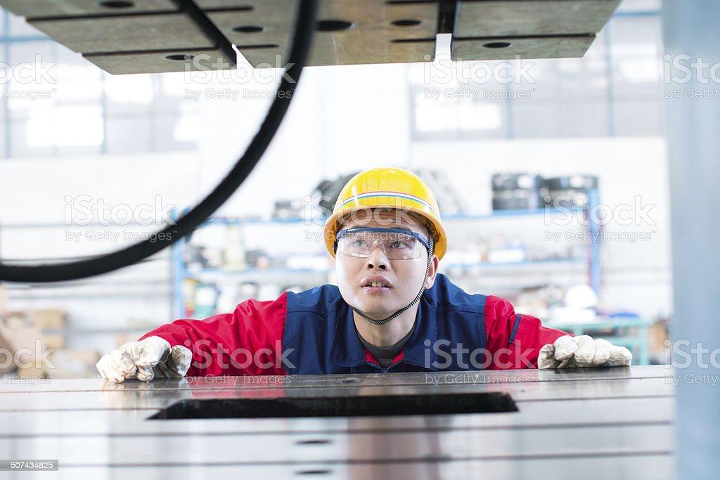Machine Operator stock photo