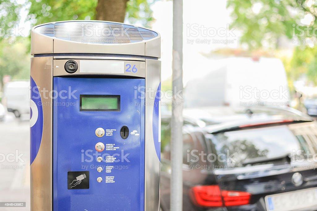 Machine parking stock photo