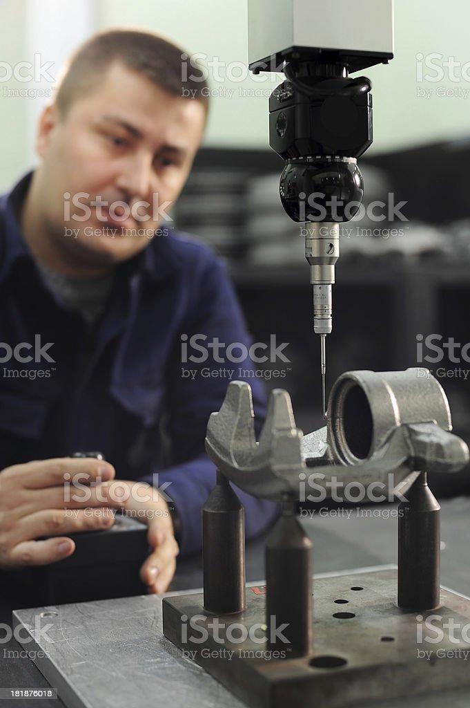 Machine part manufacturing stock photo