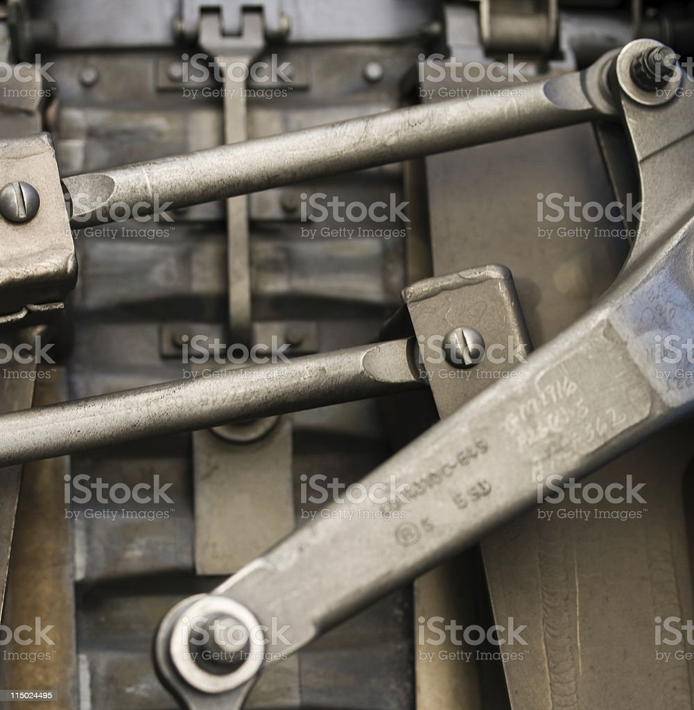 machine parts stock photo