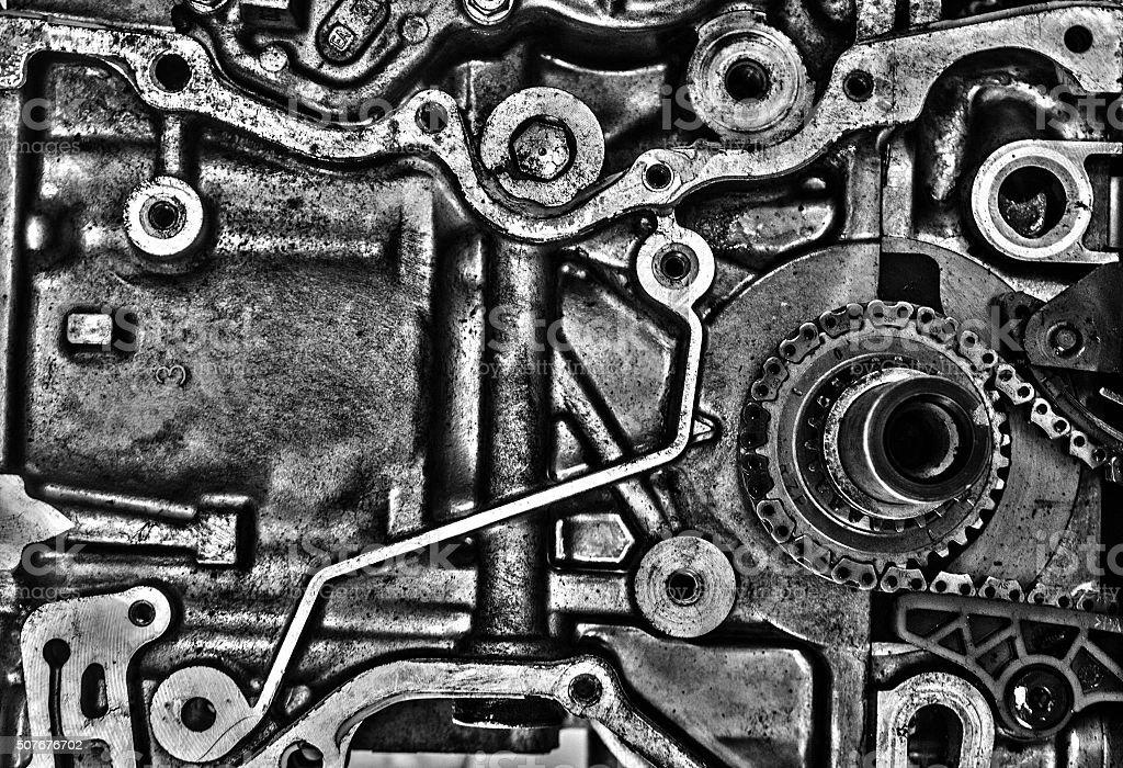 Machine parts stock photo