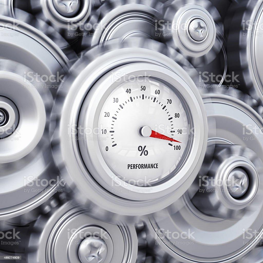 machine performance stock photo