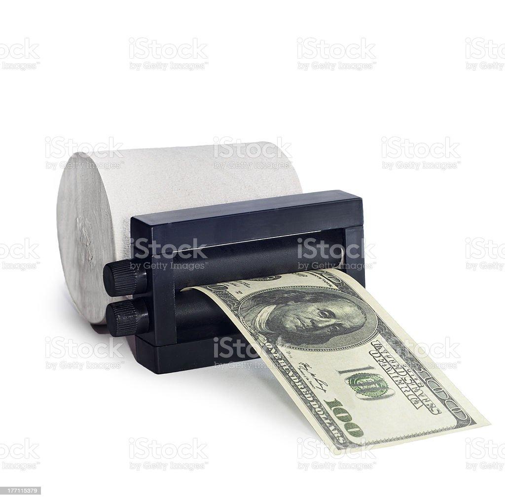 machine print money stock photo