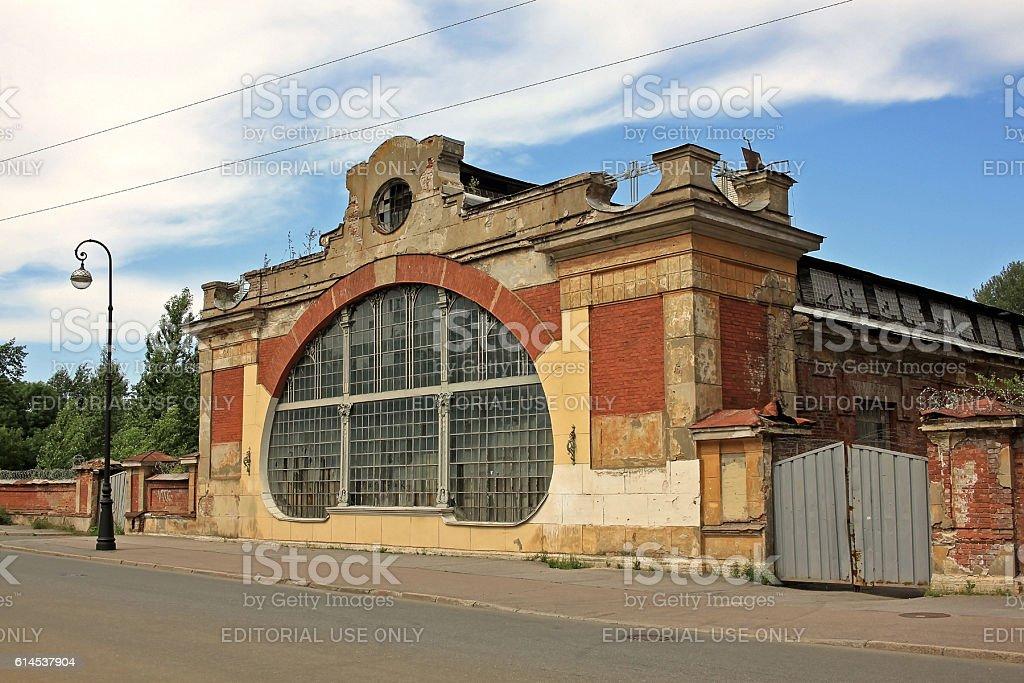 Machine school in Kronstadt, Russia stock photo