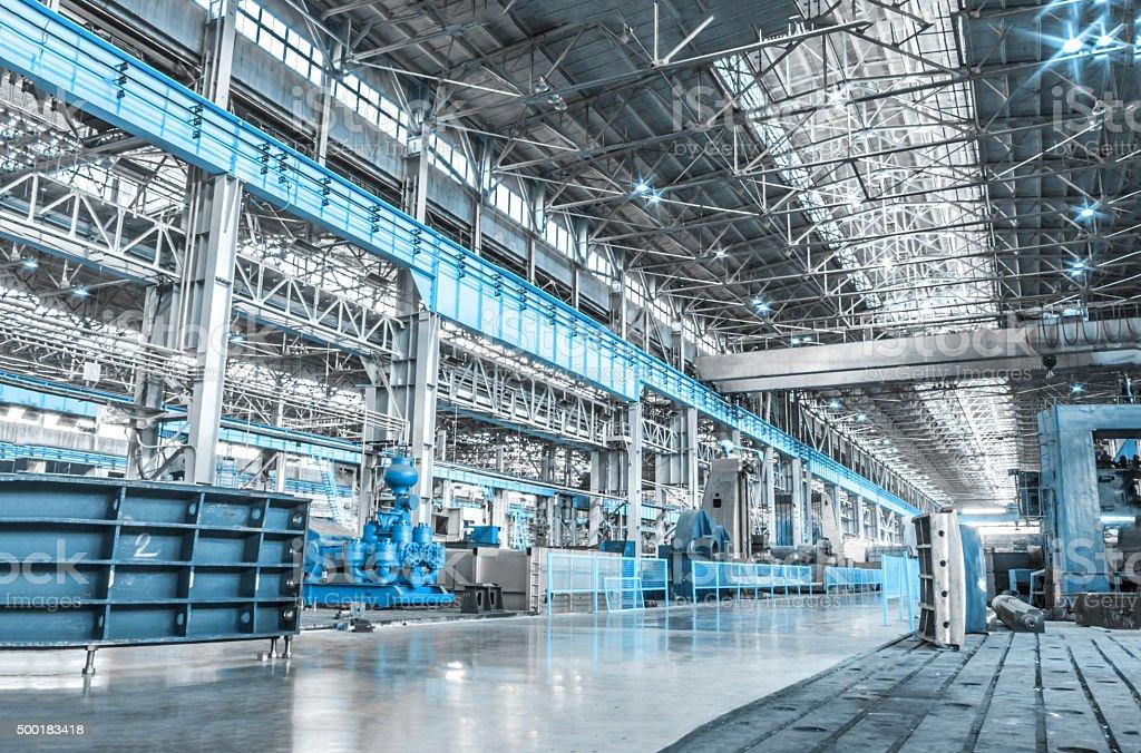 Machine shop stock photo