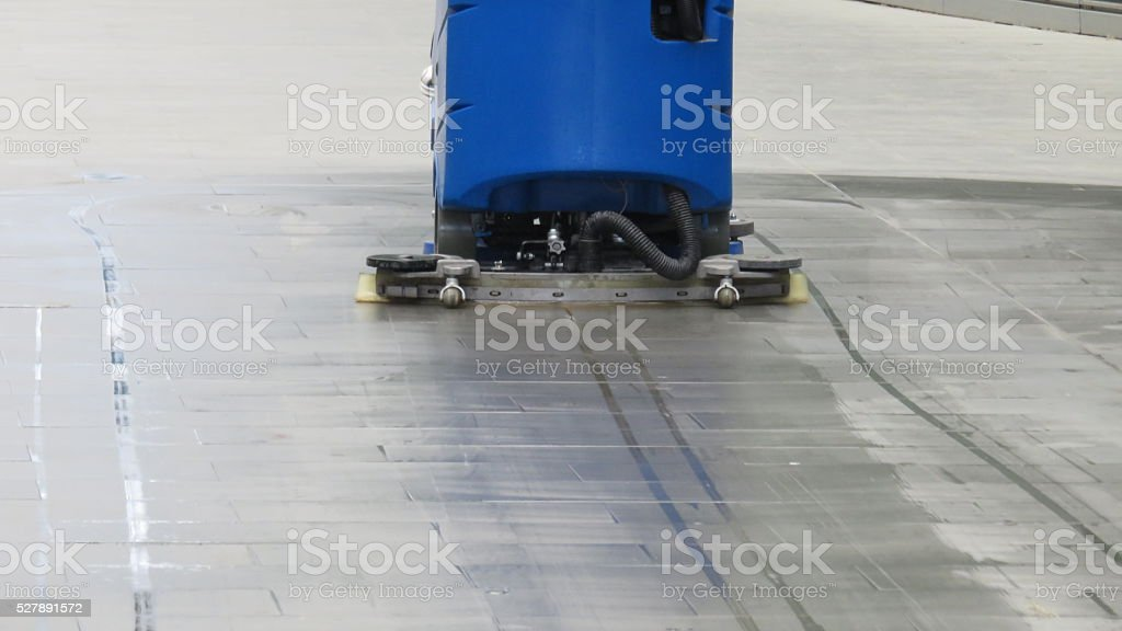 machine to clean with operator on board stock photo