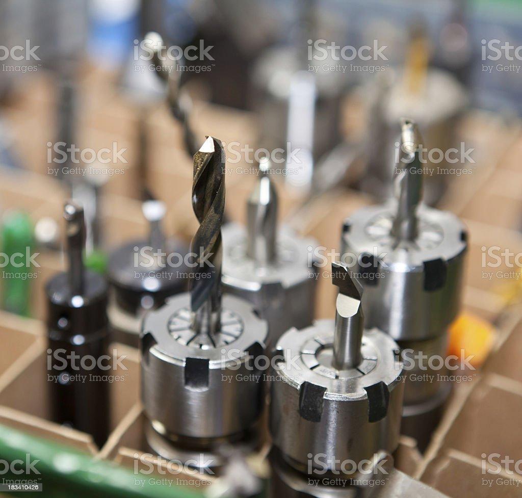 CNC machine tool bits stock photo