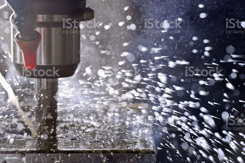 Machine tool in use stock photo