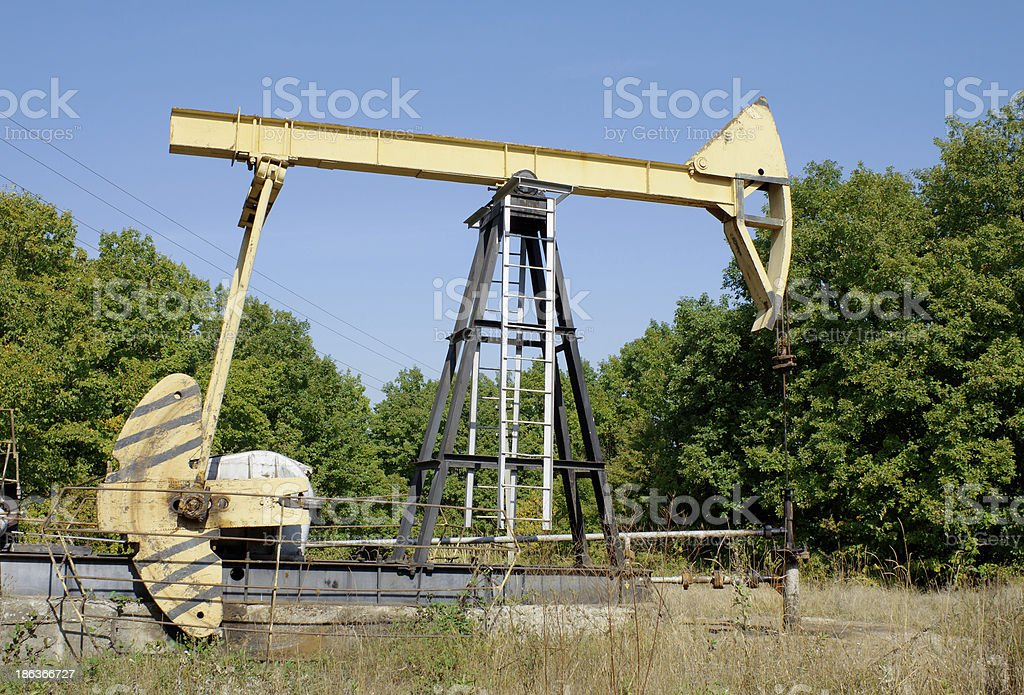 Machine-rocking for oil production royalty-free stock photo
