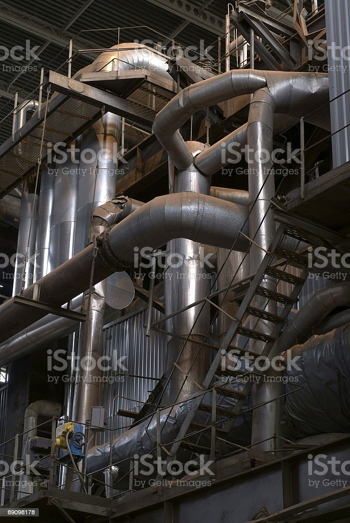Machinery and piping royalty-free stock photo