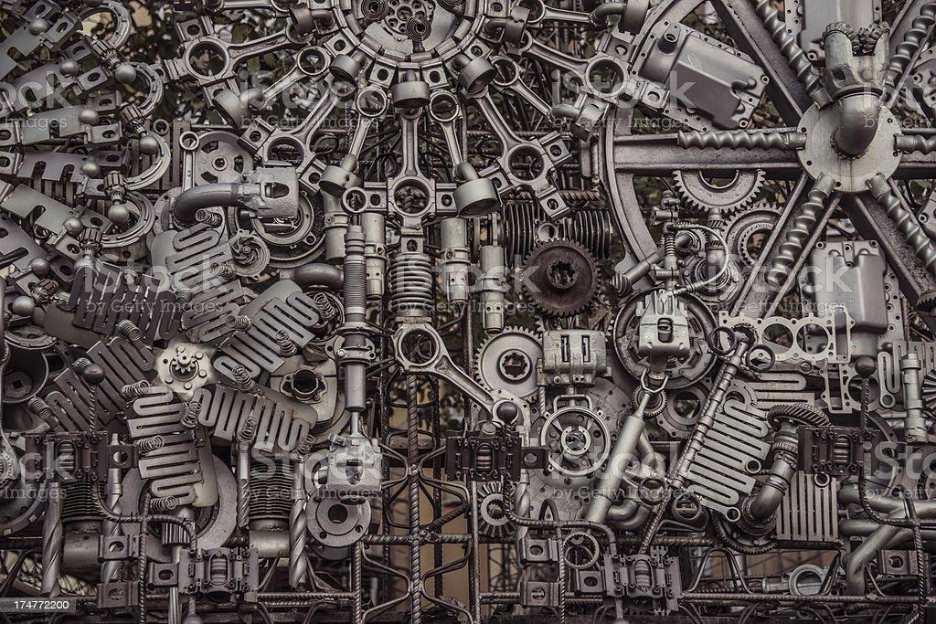 machinery background stock photo