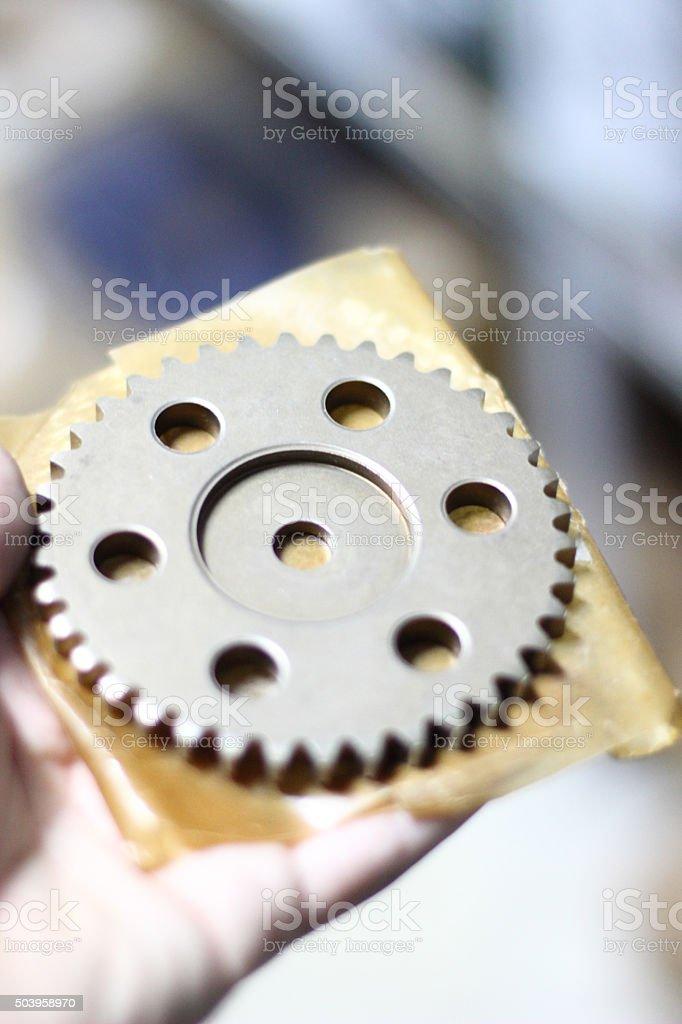Machinery Gears stock photo