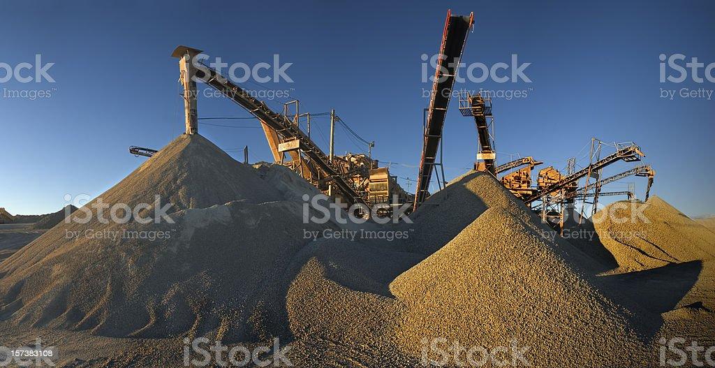 Machinery, gravel and sand II stock photo