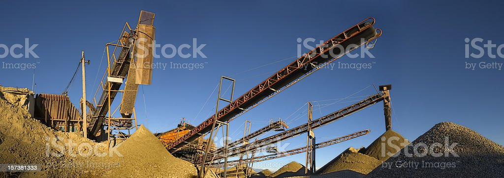 Machinery, gravel and sand royalty-free stock photo