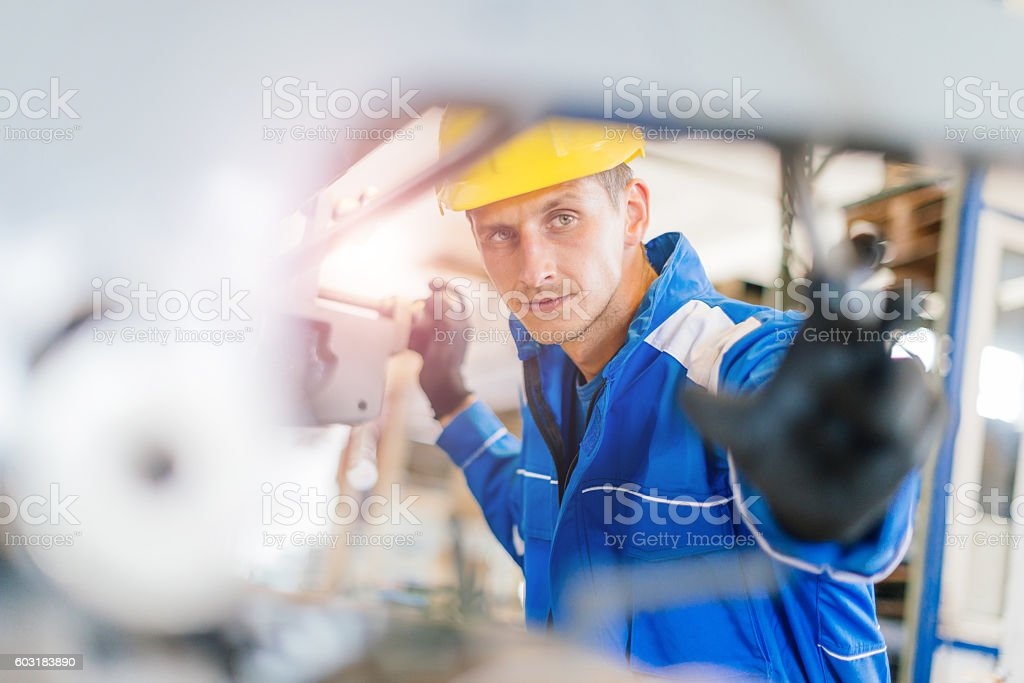 Machinery is ready to work day andd night stock photo