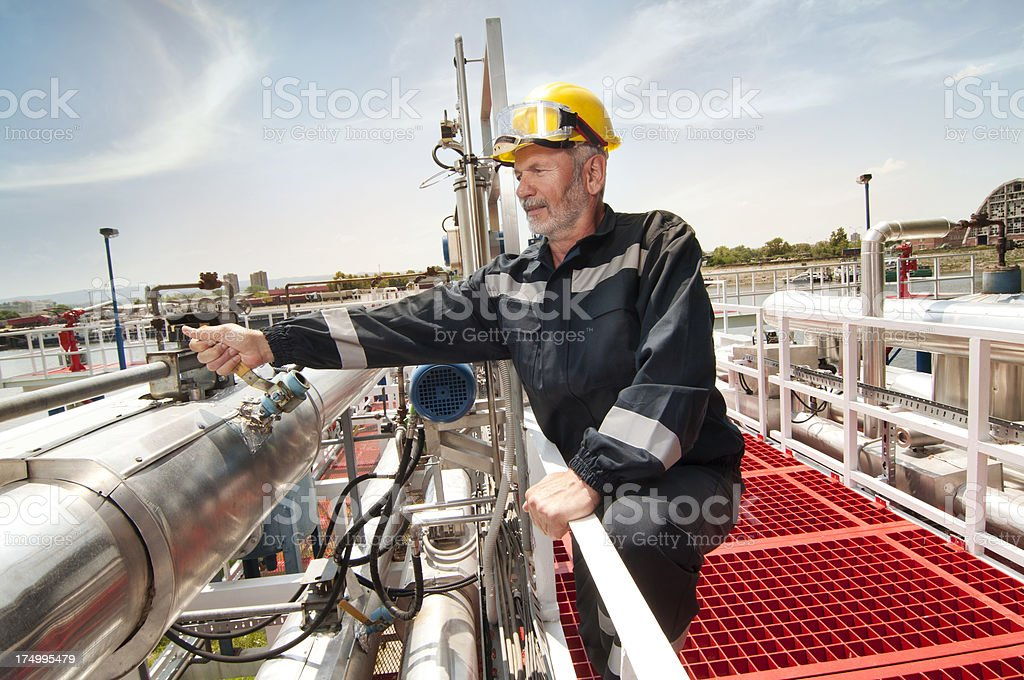machines, engineer and oil industry royalty-free stock photo