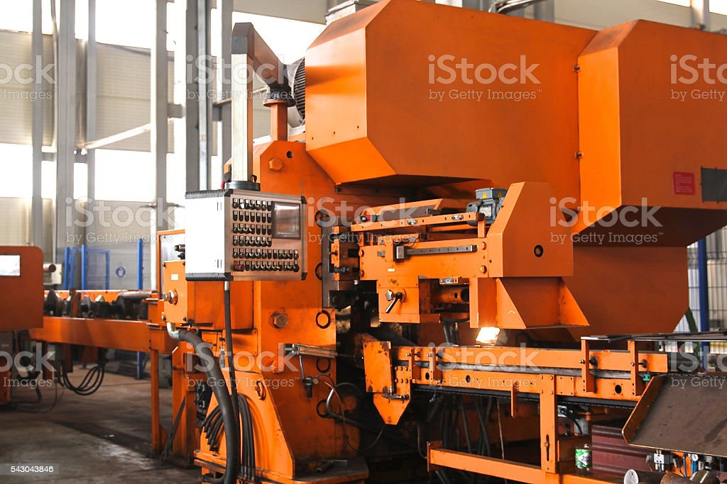 machines for cold metal cutting stock photo