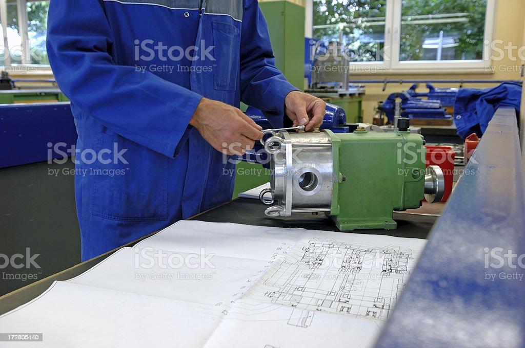Machinist stock photo