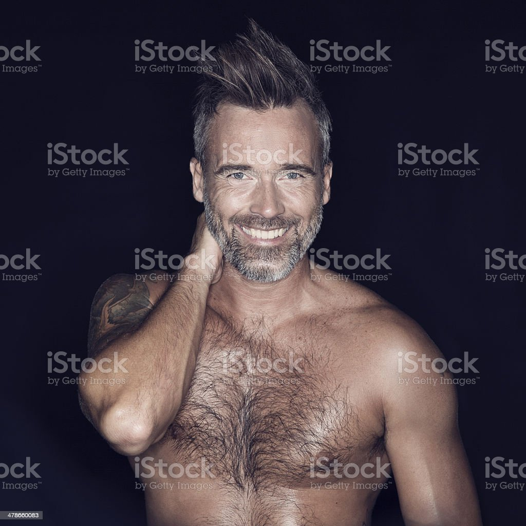 Macho and rugged stock photo