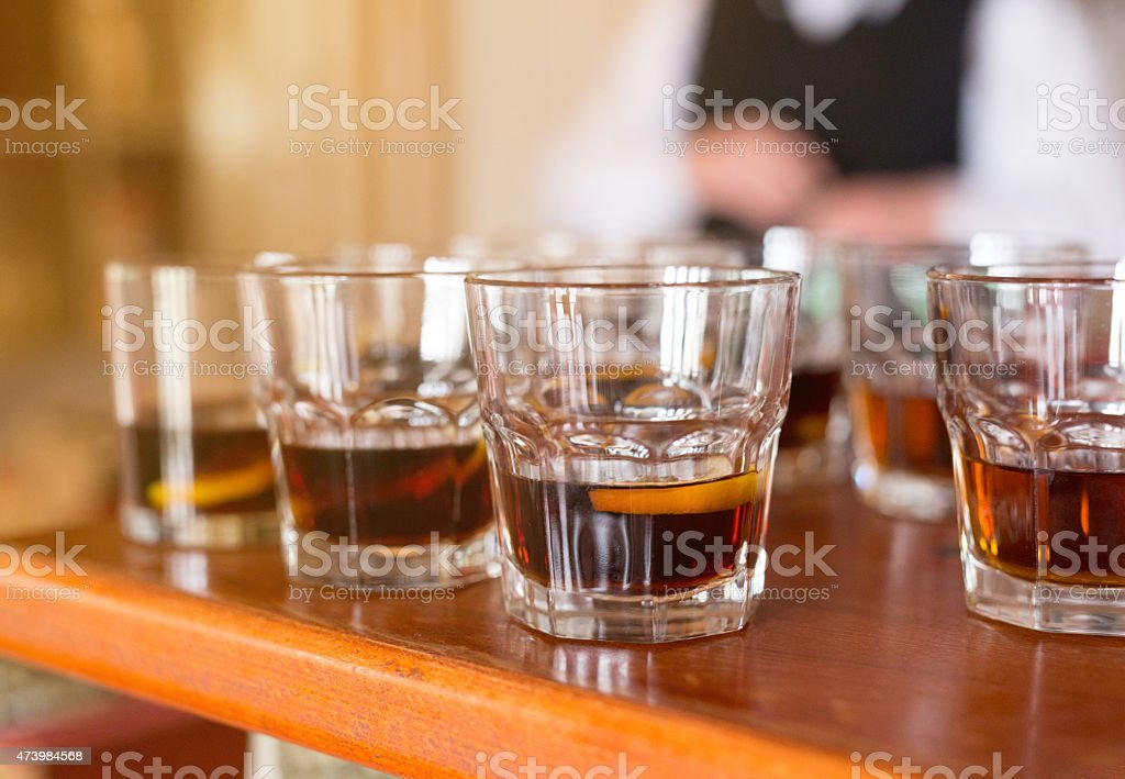 Macho Drink stock photo