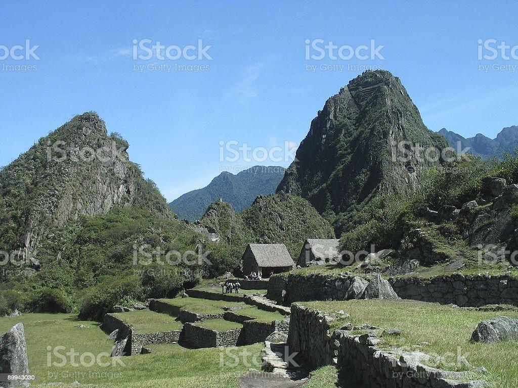 Machu Picchu and Huana Pichu stock photo