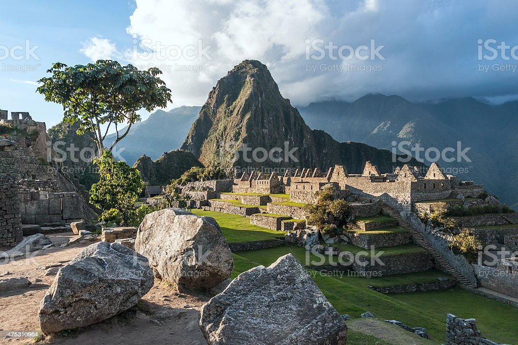 Machu Picchu, Andes, Sacred Valley, Peru stock photo