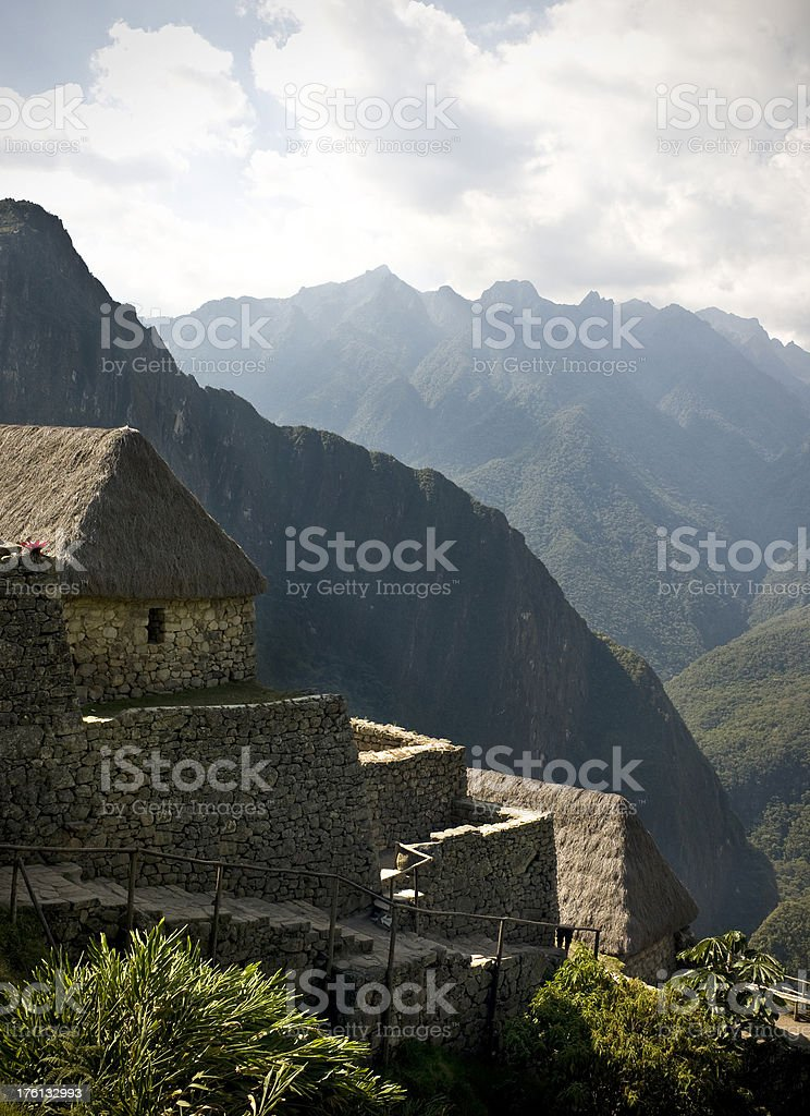 Machu Picchu architecture royalty-free stock photo