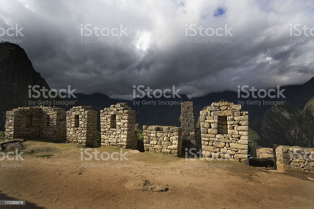 Machu Picchu Courtyard stock photo