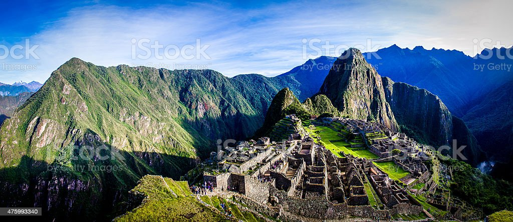 Machu Picchu First Light stock photo