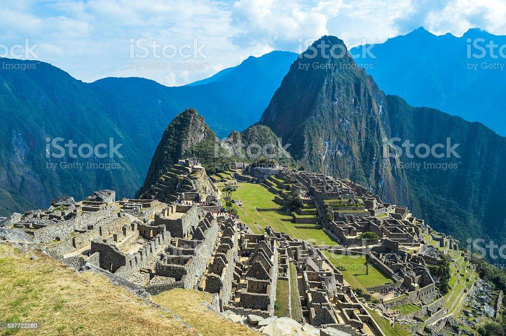 Machu Picchu in Peru stock photo
