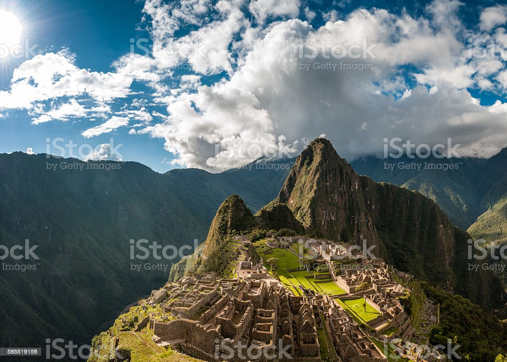 Machu Picchu In Peru stock photo
