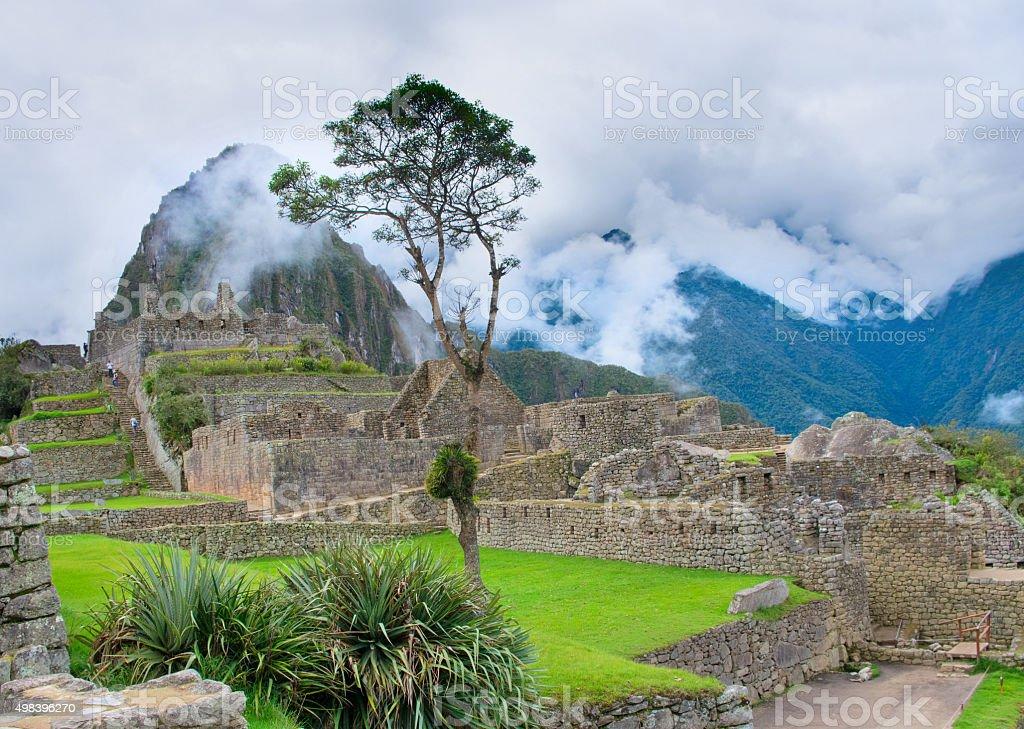 Machu Picchu in Peru. UNESCO World Heritage Site stock photo