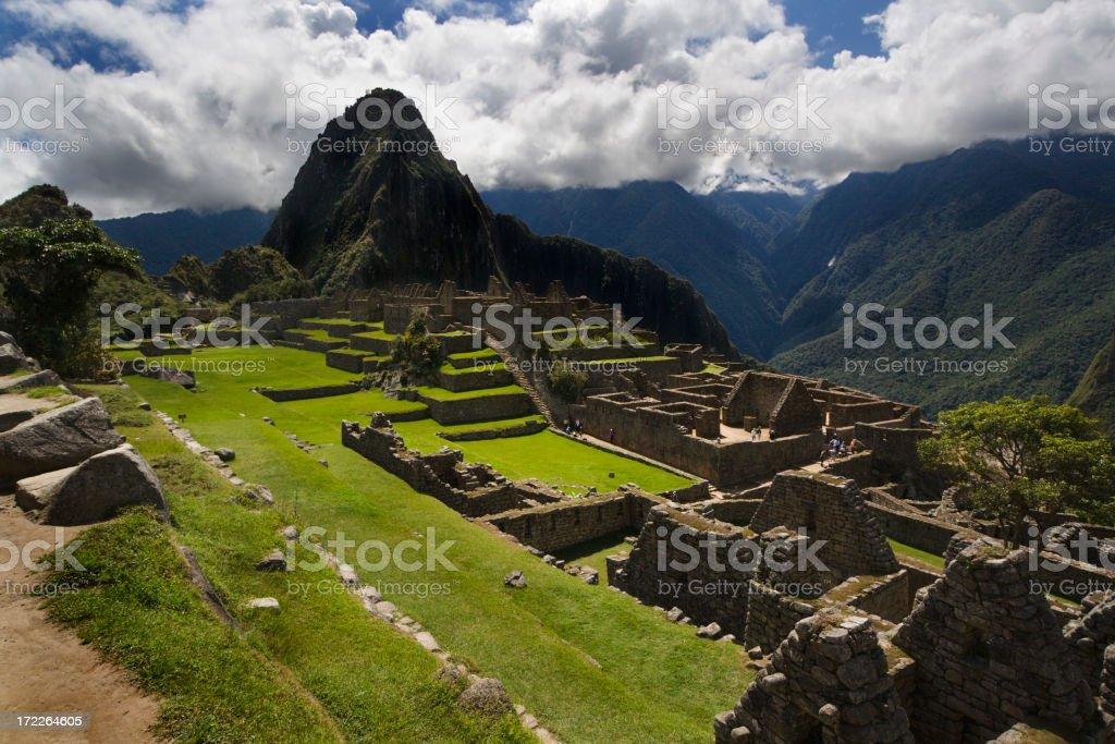 Machu Picchu Inca Culture Landscape and Architecture, Peru South America royalty-free stock photo